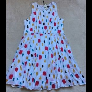 Lane Bryant Multi-Colored Brush Strokes Dress 26